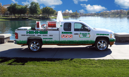 Spray Green truck