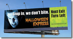 Halloween Express Billboard