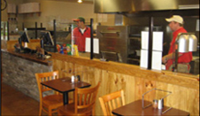Bucks Pizza Interior