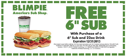 Blimpie Coupon