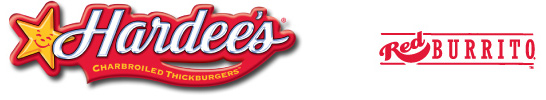 Hardees and Red Burrito Logo