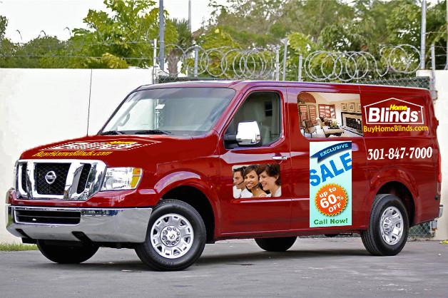Home Blinds of America Van