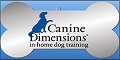 Logo for Canine Dimensions In-home Dog Training
