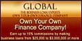 Logo for Global Financial Training System - Own Your Own Finance Company!