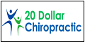 Logo for 20 Dollar Chiropractic