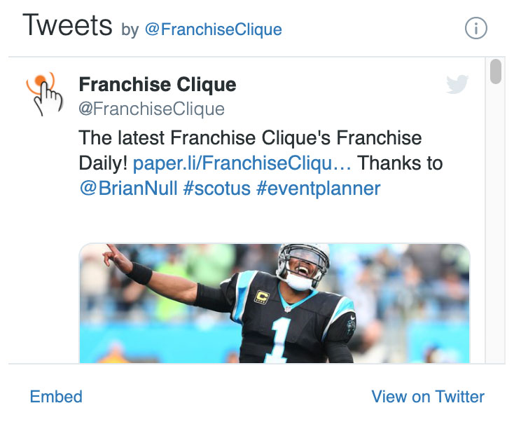 Click to view the latest tweets by FranchiseClique.com